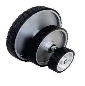 GOSET räfflat kontakthjul gummibelagt 160, 270, 370 mm