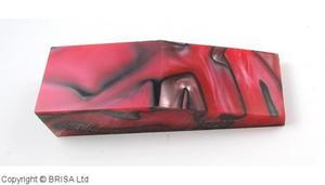 Acrylic Röd/Pärl block