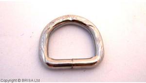 D Ring nysilver - 13mm/mönstrad/10 Styck