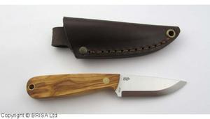 Enzo Necker 70 kniv/Läder /Olivträ