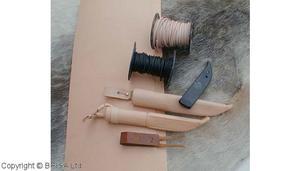 Vegetabilgarvat läder Ljust 2-2,5 mm / 10 cm
