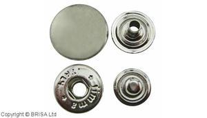 Snap 15mm Nickel/10st