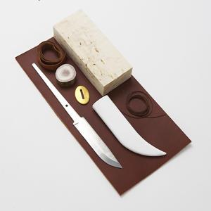 Karesuandokniven Knivsats 9cm kolstål