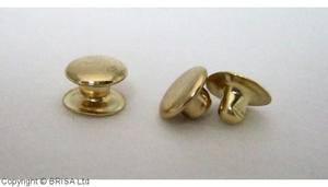 Rivets Brass 4x7mm / 100 pcs