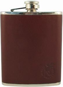 Hip Flask Moose/Elk Leather SECOND