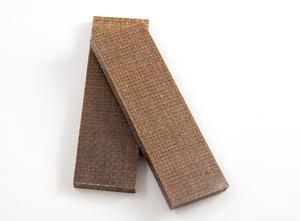Micarta jute brun 8 mm skala
