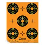Caldwell måltavla Orange Peel 2″ bulls-eye: 10 ark