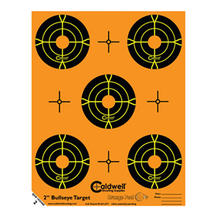 Caldwell måltavla Orange Peel 2″ bulls-eye: 10 ark