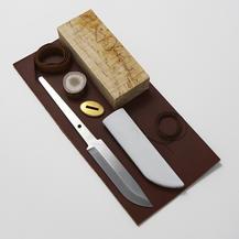 Karesuandokniven - Knivsats 10,5 cm kolstål