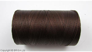 Brown waxed thread. 500 m