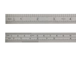 Linjal stål 15 cm/ 6 tum
